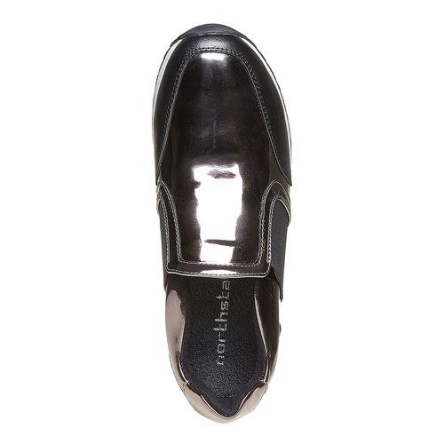 Sneakers da donna con riflessi metallici north-star, grigio, 541-2267 - 19