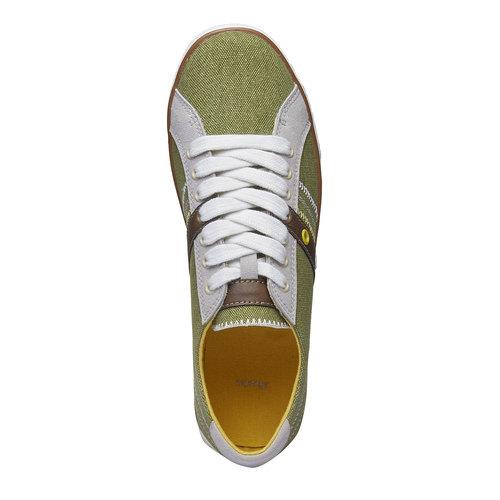 Sneakers informali da uomo bata, verde, 849-7663 - 19