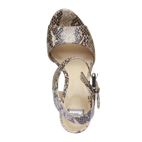 Sandali da donna con plateau bata, beige, 761-8533 - 19