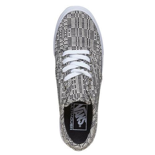 Sneakers da donna con disegno vans, grigio, 509-6311 - 19