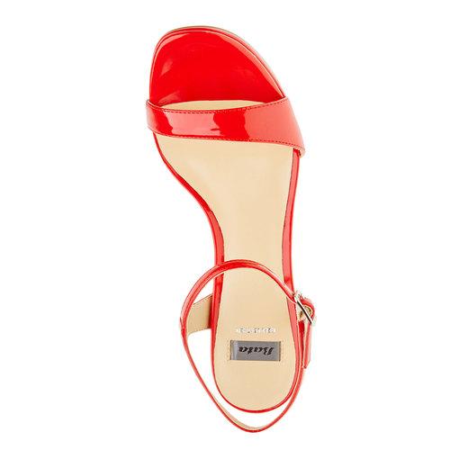 Sandali da donna con tacco a spillo bata, rosso, 761-5550 - 19