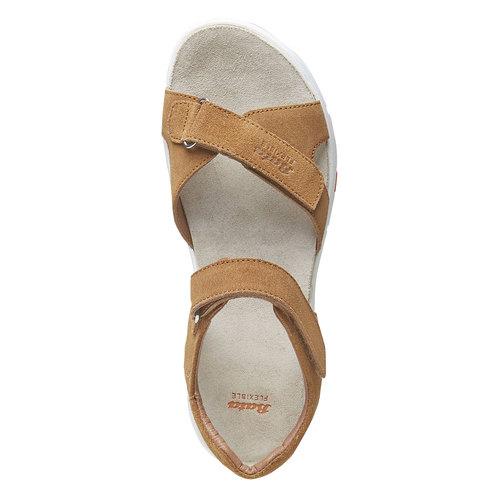 Sandali da donna in pelle flexible, marrone, 563-4397 - 19