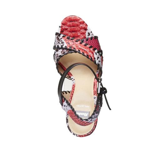 Sandali da donna con plateau bata, rosso, 761-5527 - 19