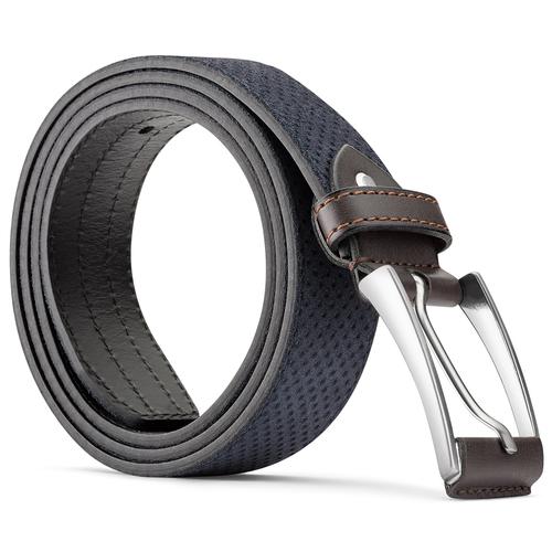 Cintura da uomo in pelle con perforazioni bata, viola, 953-9325 - 26