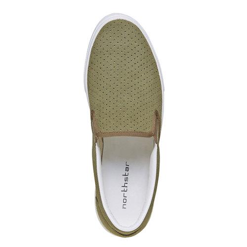 Slip-on con perforazioni north-star, verde, 833-7118 - 19