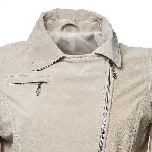 Giacca di pelle Perfecto bata, beige, 973-8107 - 16