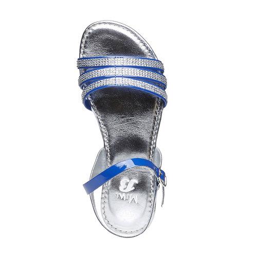 Sandali da bambina con strisce mini-b, blu, 361-9175 - 19
