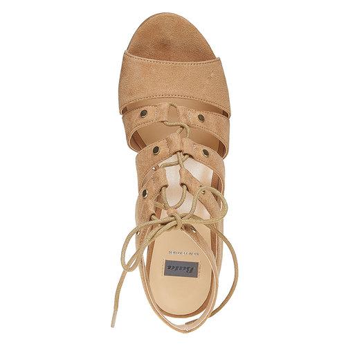 Sandali con lacci bata, beige, 769-8536 - 19