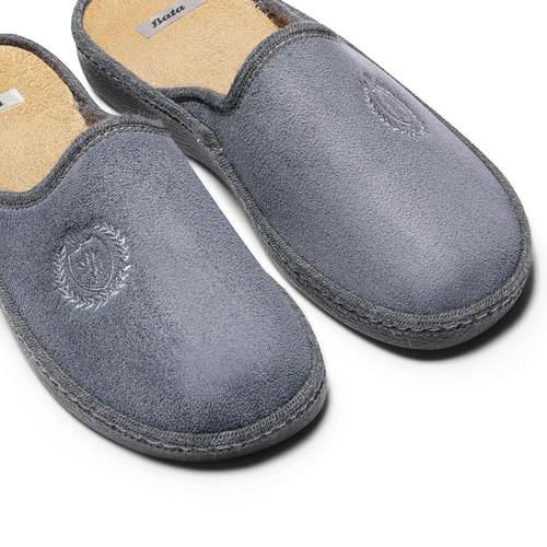 Pantofole da uomo bata, grigio, 879-2165 - 19
