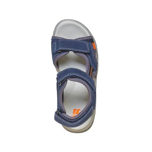 Sandali sportivi da bambino con chiusura a velcro mini-b, blu, 463-9107 - 19