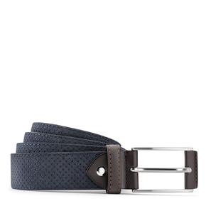 Cintura da uomo in pelle con perforazioni bata, viola, 953-9325 - 13