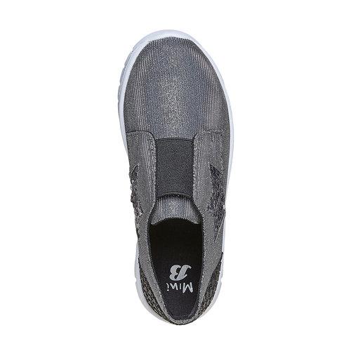 Sneakers argentate da ragazza mini-b, argento, 329-6214 - 19
