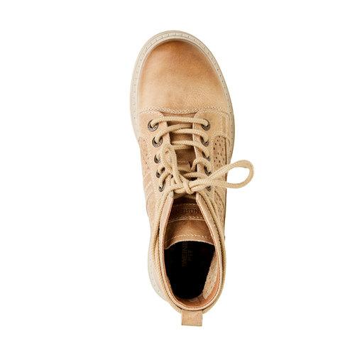 Scarpe di pelle alla caviglia weinbrenner, marrone, 594-4138 - 19