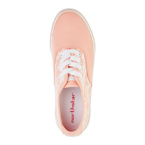 Sneakers con pizzo north-star, rosa, 549-5222 - 19