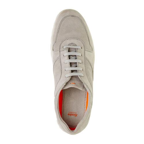 Sneakers informali di pelle flexible, beige, 846-2650 - 19