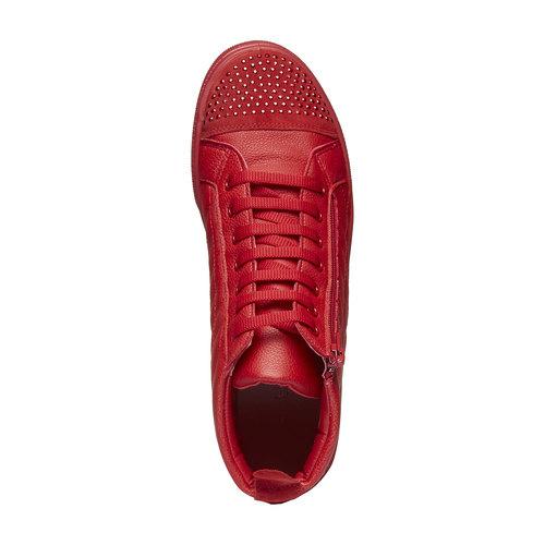 Sneakers rosse alla caviglia north-star, rosso, 543-5127 - 19