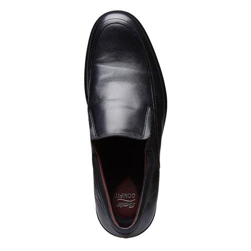Scarpe basse comode di cuoio bata-comfit, nero, 814-6934 - 19