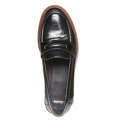 Loafers da donna con suola ampia bata, nero, 511-6239 - 19