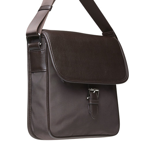 Borsa Crossbody da uomo con patta bata, marrone, 961-4776 - 17