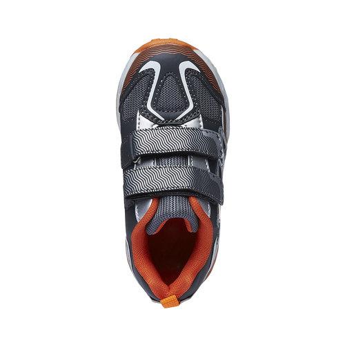 Sneakers da bambino con chiusure a velcro mini-b, grigio, 211-2155 - 19