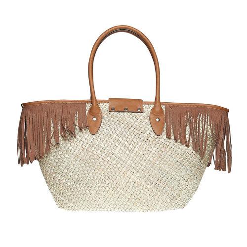 Borsetta Shopper con frange bata, marrone, 969-3449 - 26