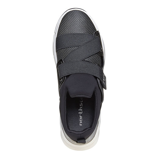 Sneakers eleganti con strisce elastiche north-star, nero, 549-6140 - 19