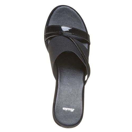 Slip-on con plateau bata, nero, 779-6103 - 19