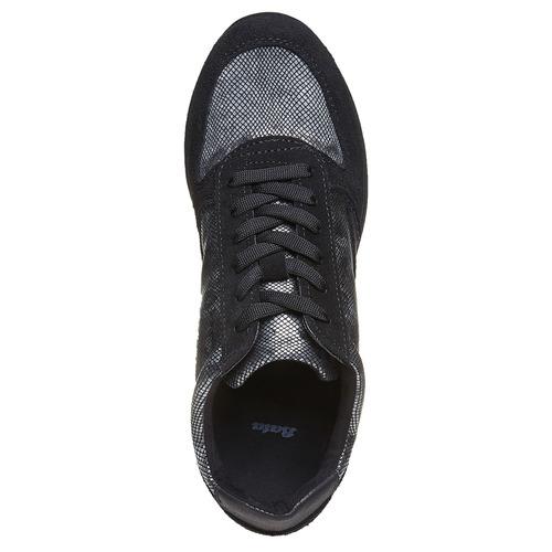 Sneakers da donna con motivo metallizzato bata, nero, 543-6143 - 19