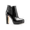 Stivaletti di pelle alla caviglia con plateau bata, nero, 794-6571 - 13
