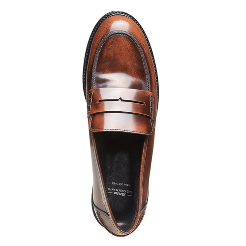 Penny Loafer di pelle bata, marrone, 514-4222 - 19