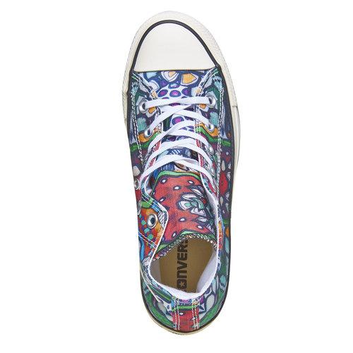 Sneakers alla caviglia con stampa colorata converse, 589-0316 - 19