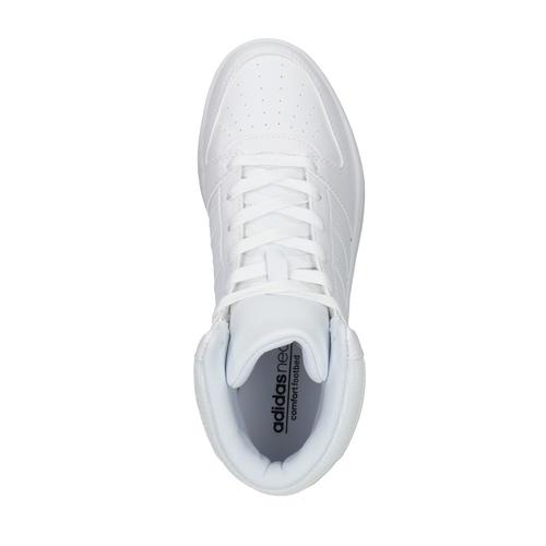 Sneakers bianche sopra la caviglia adidas, bianco, 501-1741 - 19
