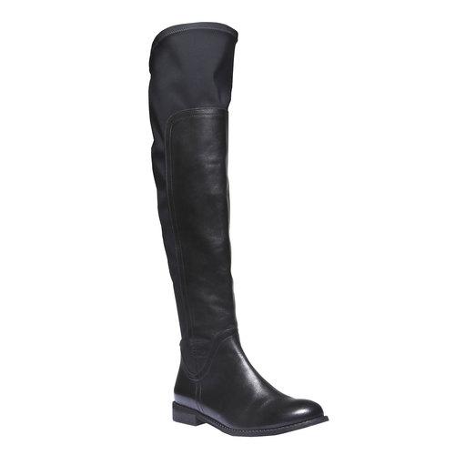 Stivali di pelle bata, nero, 594-6225 - 13