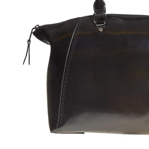 Borsetta con perforazioni bata, nero, 961-6120 - 17