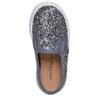 Slip-on da bambina con glitter mini-b, grigio, 229-2116 - 19