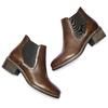 Scarpe in pelle alla caviglia con lati elastici bata, marrone, 694-3382 - 19