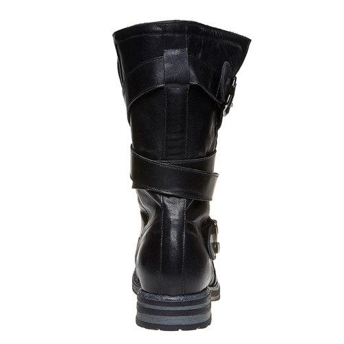 Stivali da donna con fibbie bata, nero, 594-6103 - 17