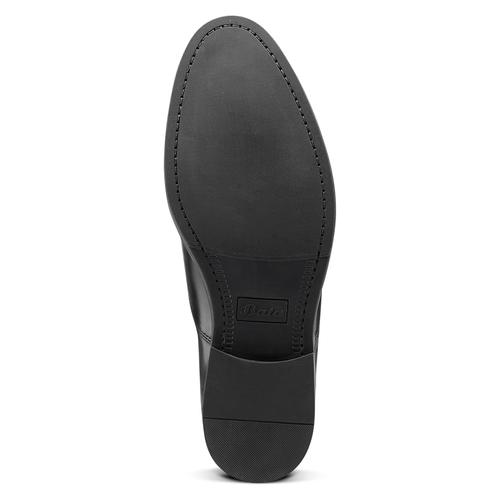 Scarpe basse di pelle da uomo bata, nero, 824-6460 - 17