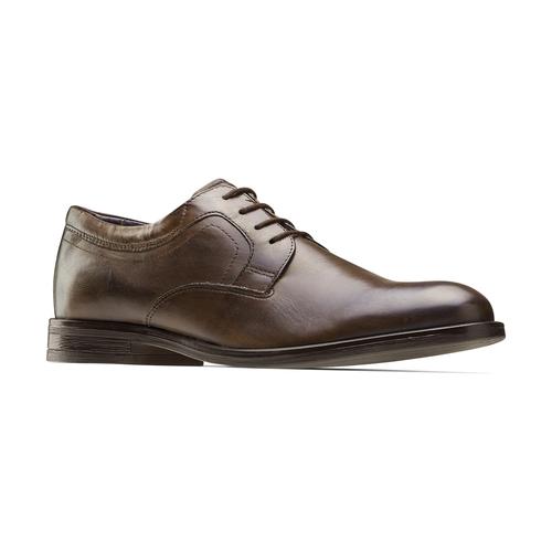 Scarpe basse marroni di pelle da uomo bata, marrone, 824-4460 - 13
