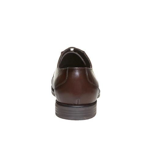 Scarpe basse casual di pelle bata, marrone, 824-4617 - 17