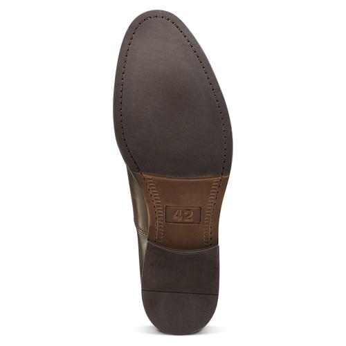 Scarpe basse marroni di pelle da uomo bata, marrone, 824-4460 - 17