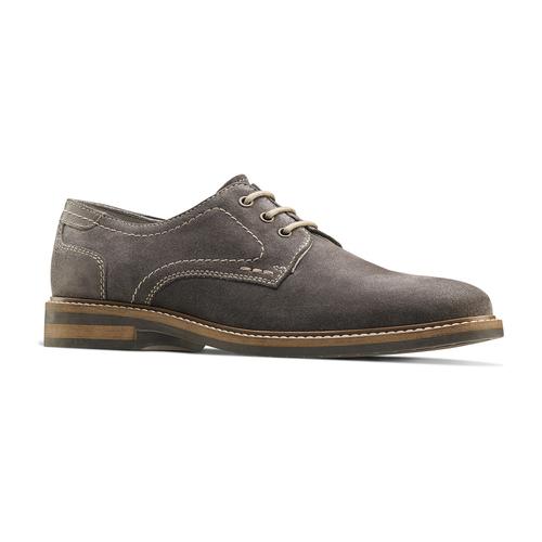 Scarpe basse casual di pelle bata, grigio, 823-2608 - 13