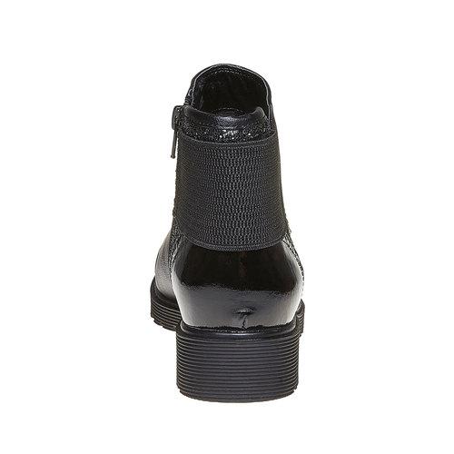Scarpe da donna alla caviglia con glitter bata, nero, 591-6539 - 17