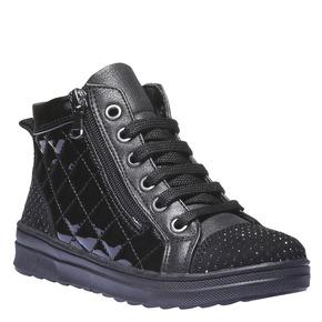 Sneakers lucide con strass mini-b, nero, 321-6165 - 13