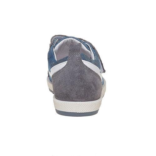 Sneakers da bambino con chiusure a velcro flexible, grigio, 311-2234 - 17