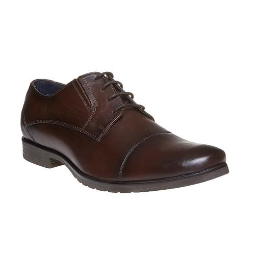 Scarpe basse casual di pelle bata, marrone, 824-4617 - 13