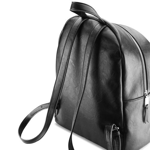 Zaino con borchie in metallo bata, nero, 961-6855 - 17