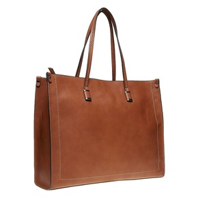 Borsetta marrone in stile Shopper bata, marrone, 961-3736 - 13