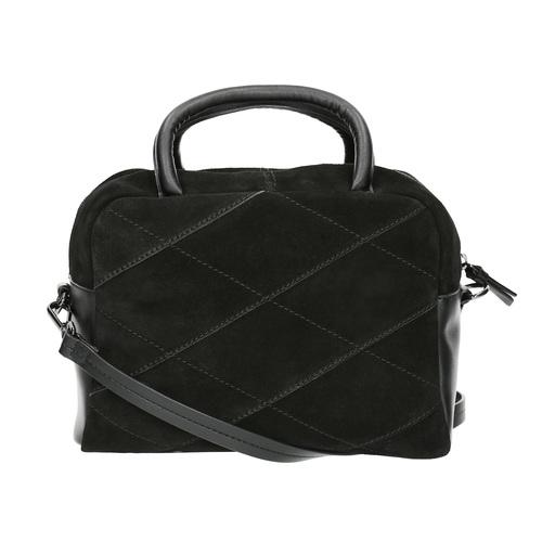 Piccola borsetta di pelle con cinghia bata, nero, 963-6133 - 19