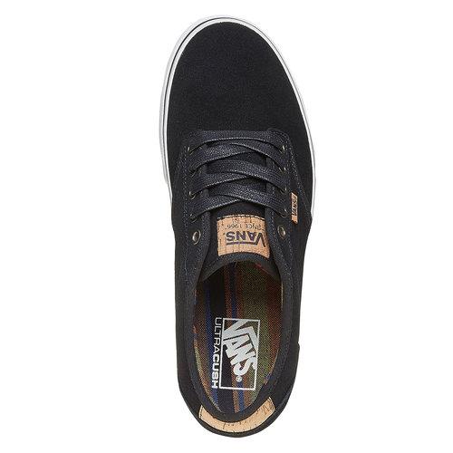 Sneakers nere da uomo in pelle vans, nero, 803-6304 - 19